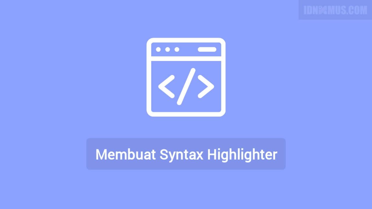 Syntax Highlighter Blogger