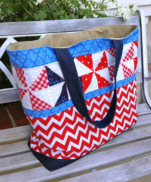 Patriotic Tote Bag Free Quilt Tutorial