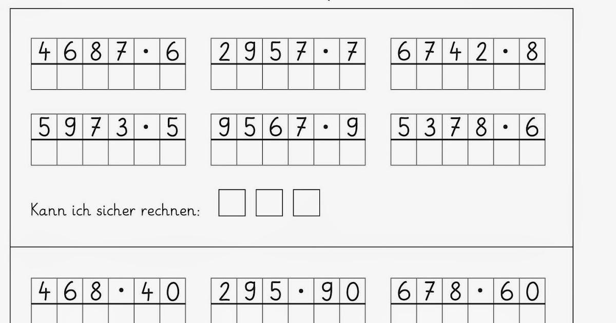 Lernstübchen: schriftlich multiplizieren