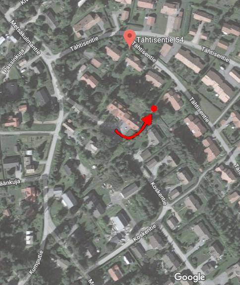 Ulvilan murha - paikka josta koira löysi hajujäljen