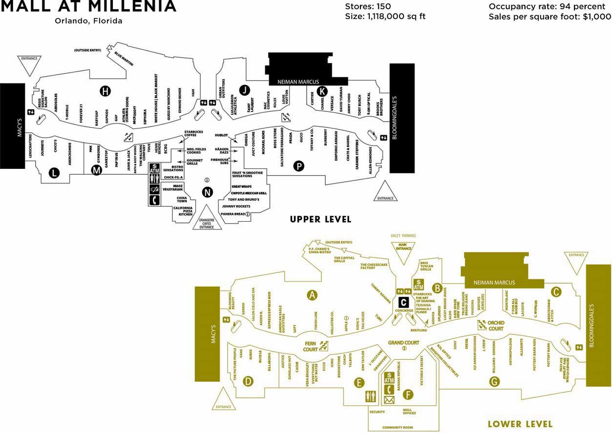 Mapa Mall at Millenia