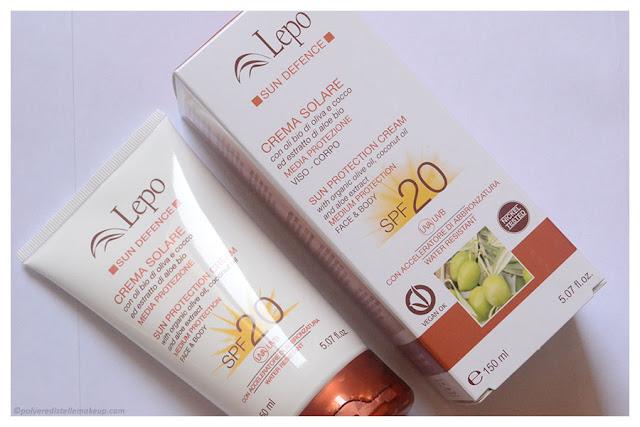 LEPO Crema Solare protezione media SPF20