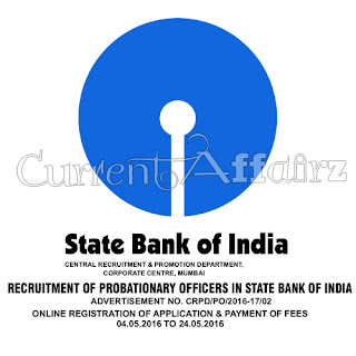 SBI Recruitment Of Probationary Ofiicers Notification Released Out Now 2016