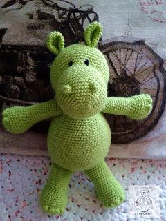Green Hippo amigurumi