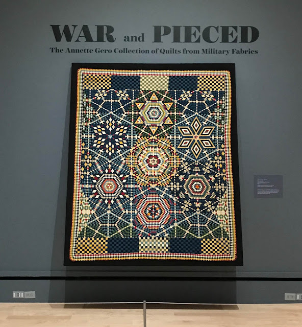 War and Pieced Exhibit at the International Quilt Study Center and Museum in Lincoln, NE Visited By Thistle Thicket Studio. www.thistlethicketstudio.com
