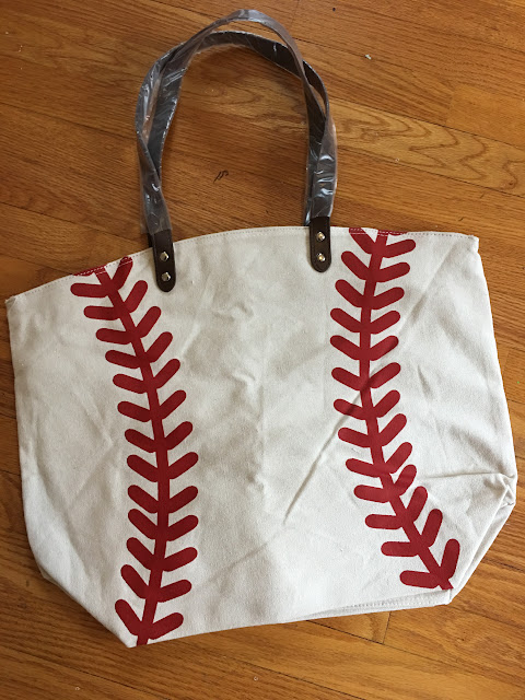 baseball tote bag, baseball blanks, heat transfer vinyl blanks, things to sell