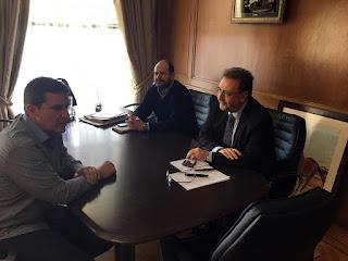 Συνάντηση Δημάρχου Κώστα Δημόπουλο με Υφυπουργό Οικονομίας Αστέριο Πιτσιόρλα και Γ.Γ. Σ.Δ.Ι.Τ. Νίκο Μαντζιούφα