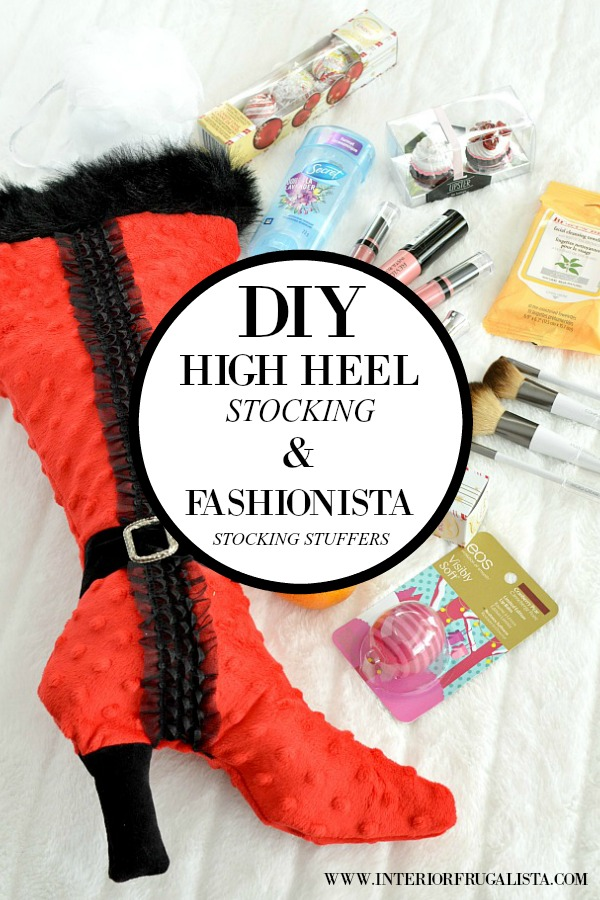 Unique DIY High Heel Stocking Filled With Beauty Products
