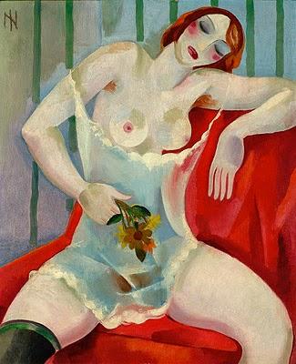 """Mulher Sentada com Ramos de Flores - Ismael Nery e suas pinturas ~ O """"Pintor Maldito"""""""