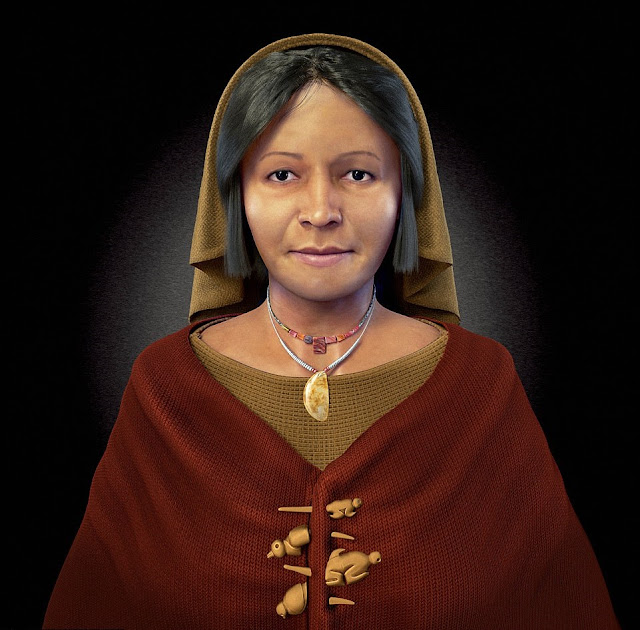 Face of Peru's 'Lady with the Four Brooches' recreated