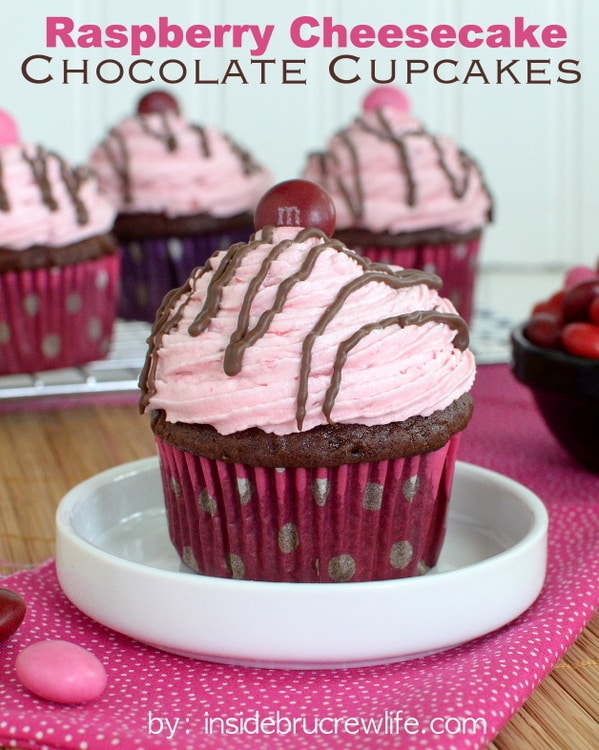 Raspberry Cheesecake Chocolate Cupcakes Recipe