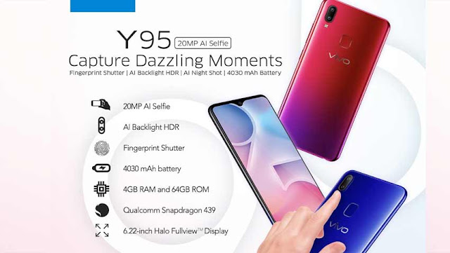 Vivo Y95 Specifications and Prices, Latest Vivo Smartphones