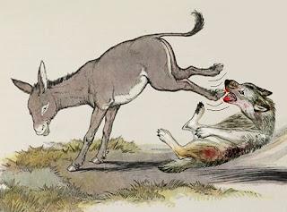 L'asino e il lupo - Fedro