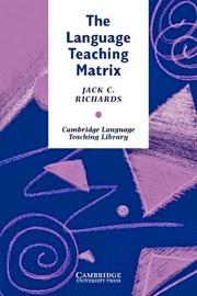 The Language Teaching Matrix PDF Book by Jack C. Richards Free Download