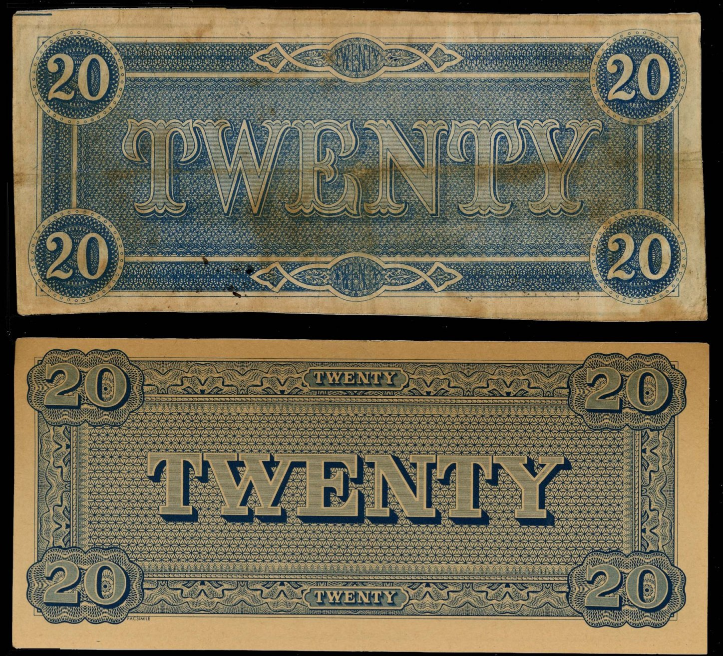 Yesterday's Papers: Facsimile Confederate Money Used as