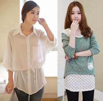 Desain baju wanita modis dan trendy