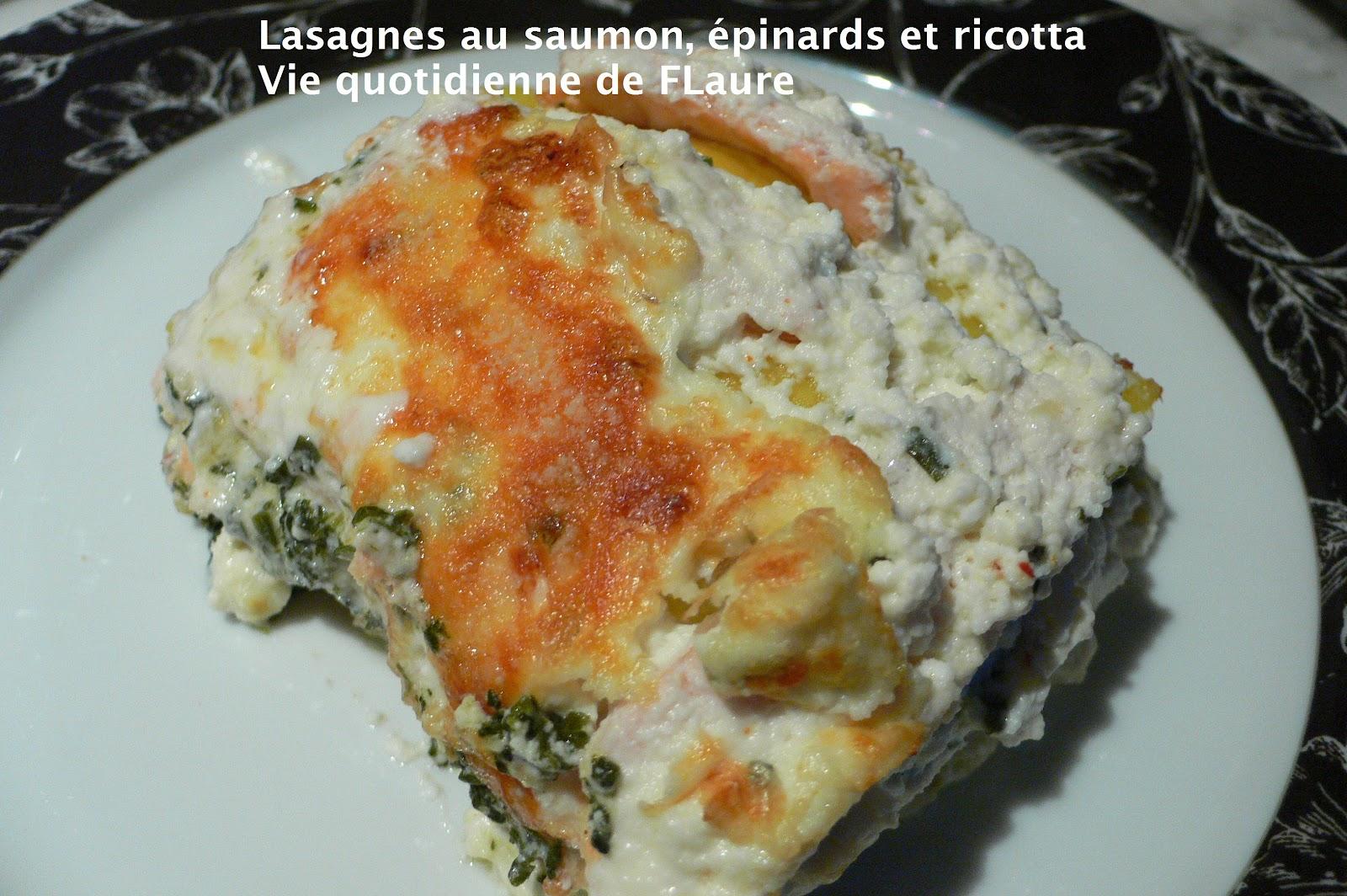 lasagnes au saumon pinards et ricotta tour en cuisine n 82. Black Bedroom Furniture Sets. Home Design Ideas