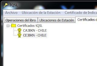 Certificado Lotw CE3BKN