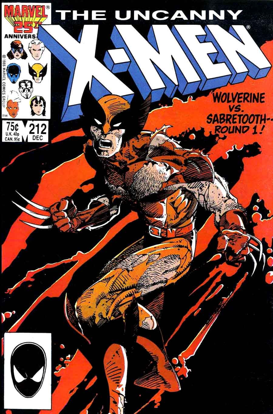 X-men v1 #212 marvel comic book cover art by Barry Windsor Smith