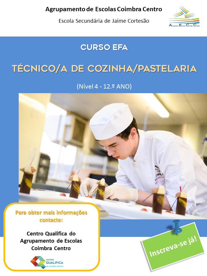 Inscrições abertas para cursos efa em Coimbra