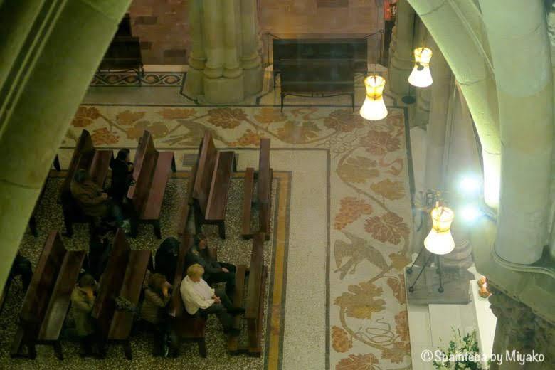 世界遺産サグラダ·ファミリア教会の地下聖堂 Basílica de la Sagrada Família