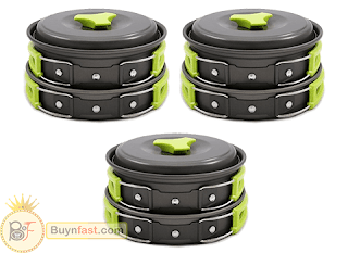 Enjoy your meal with Go Camping Cookware Mess Set by MalioMe