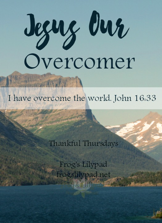 When we turn our lives over to Him, Jesus becomes our Overcomer. We can have faith in Him to have the victory over life's troubles. Thankful Thursdays Linkup l frogslilypad.net