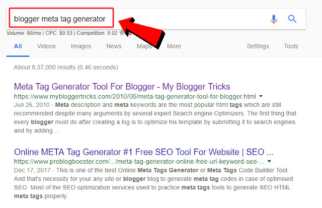 Blogger Meta Tag & Description Generator