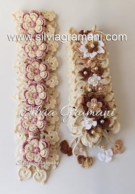 Cordões de Crochê com Flores