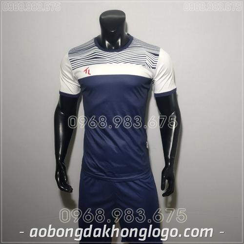Áo bóng đá không logo TL Riyad màu tím than