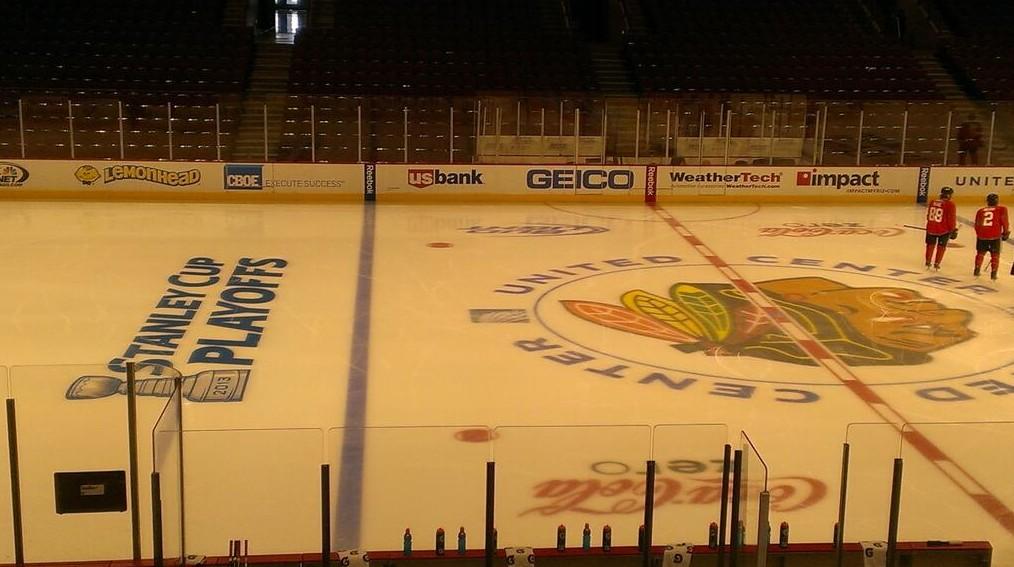 Teams Add Playoffs Logo To Ice Frozen Faceoff