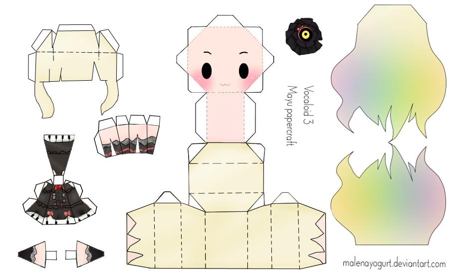 ¡Asombrate!: Vocaloid - Papercrafts