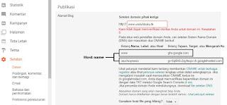 Cara Pasang Domain Pribadi dari Freenom di BLogger