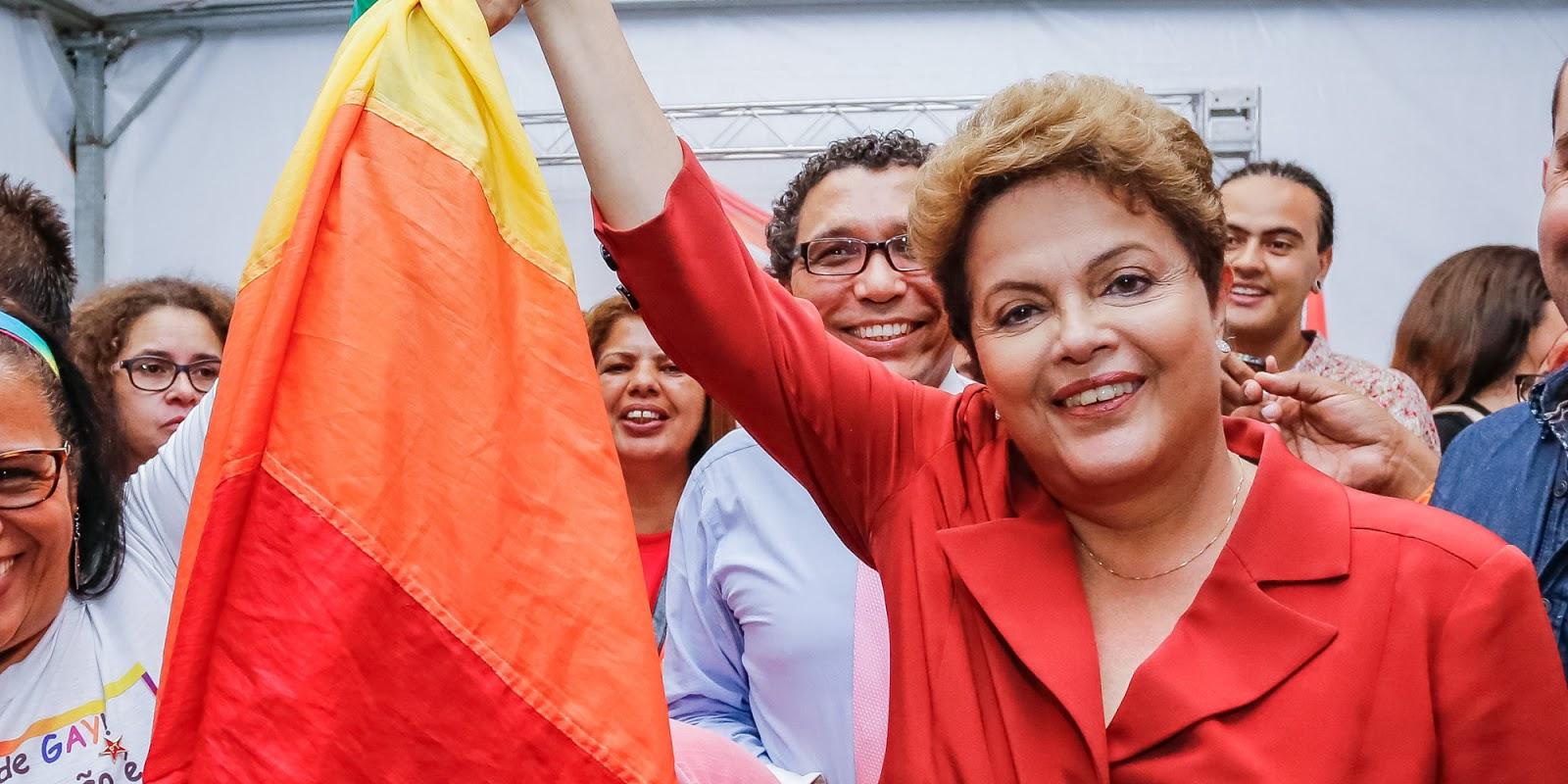 Em carta, movimento lembra avanços nos direitos LGBT nos governo Dilma e Lula