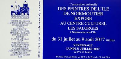Exposition, peinture, Noirmoutier