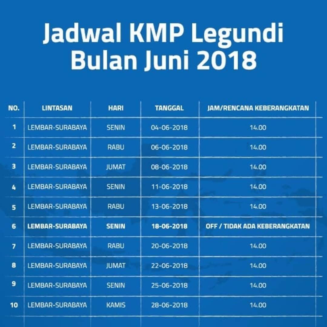 Harga Tiket Dan Jadwal Kapal Laut Kmp Legundi Jurusan Surabaya Lombok Terbaru 2018 Kangjamal Com