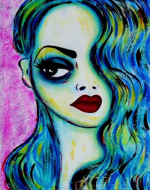 Bebee Pino painting acrylic on canvas