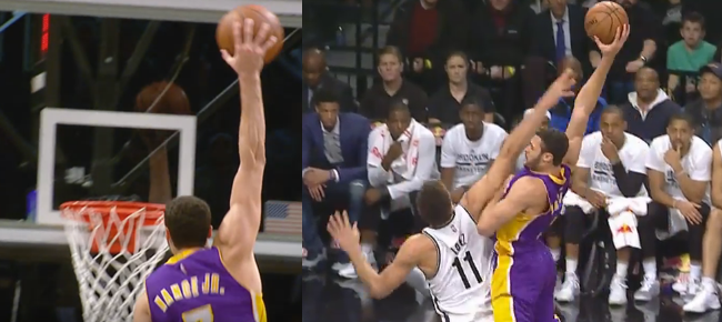 Larry Nance Jr Puts Brook Lopez on a Poster & Brooklyn Nets' Bench Reaction (VIDEO)