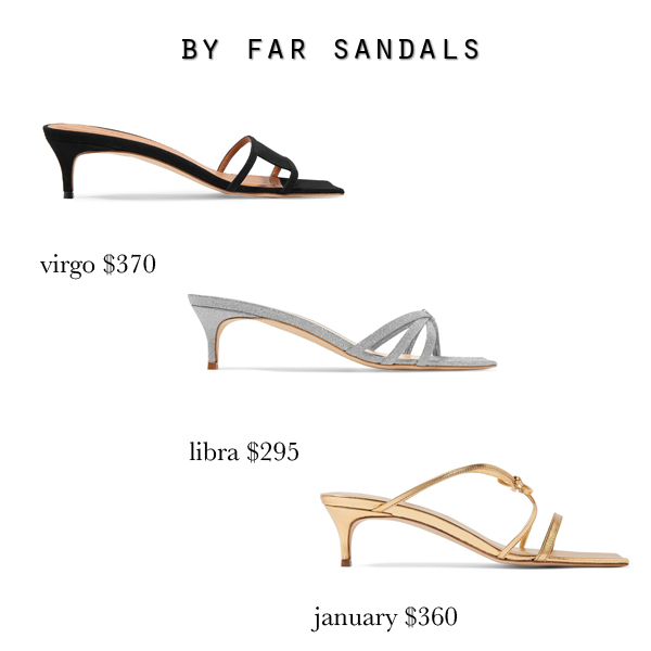 By Far Virgo Libra January heeled mule sandals