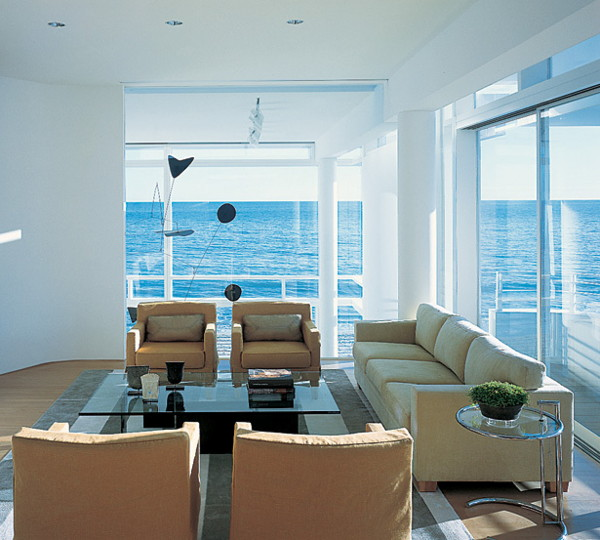 Most Beautiful Homes Interiors: Luxury Oceanfront Beach House, California, USA: Most