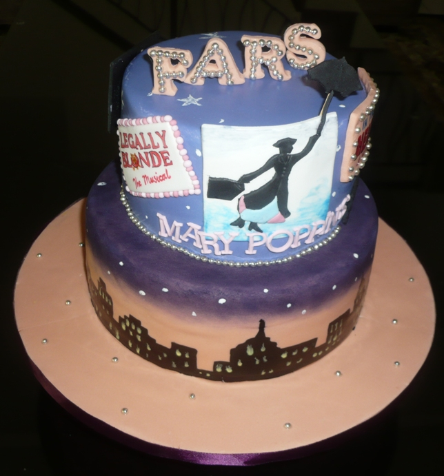 Liez Cakes And Etc Broadway Themed Cake