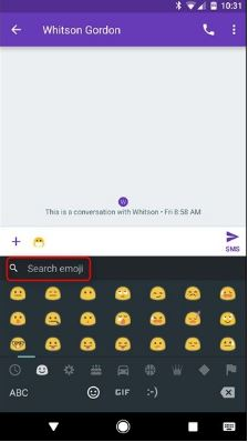 Search for Emoji and GIFs in Android's Google Keyboard