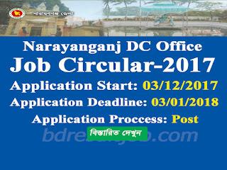 Narayanganj Deputy Commissioner, Narayanganj Job Circular 2017