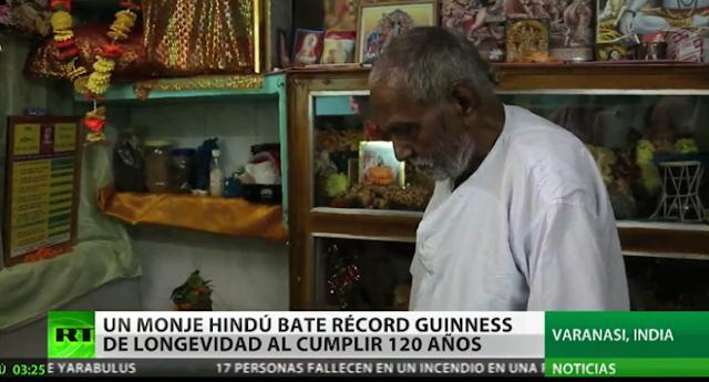 Monje Hindú de 120 años