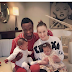 Mikel Obi with his girlfriend and their twin girls