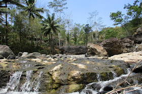 Ada sungai dengan pemandangan indah di desa Pandean Trenggalek