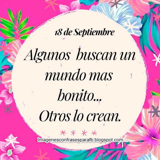 Frase del Día 18 de Septiembre