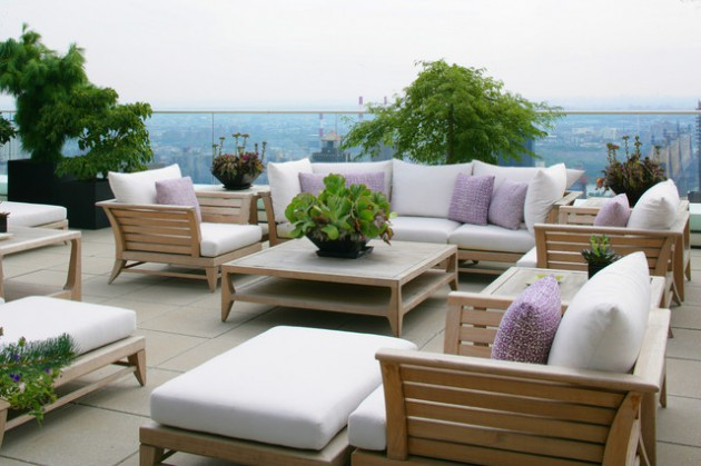 teras tamu terbuka rumah minimalis modern