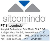 Lowongan Kerja Terbaru Jakarta PT Sitcumoindo (SITCOMINDO GROUP)