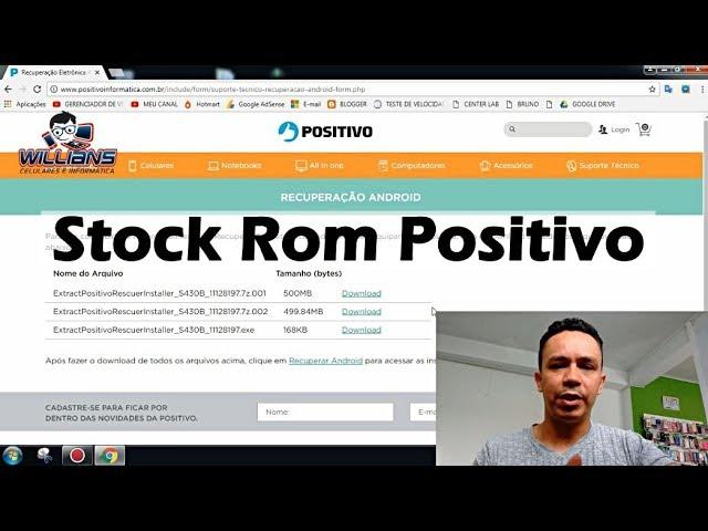 Firmware Stock Rom Positivo, Como Baixar